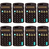 Tectron Basic Calculator Class Set -- Pack of 8 Electronic Calculators (Battery Powered, 8 Digit)
