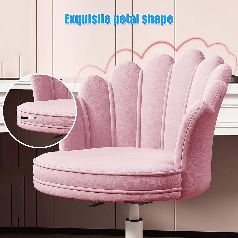 Modern 360° rotation svängbar stol ergonomisk skrivbordsstol med ländrygg stöd och armstöd för små hem och kontor Grått