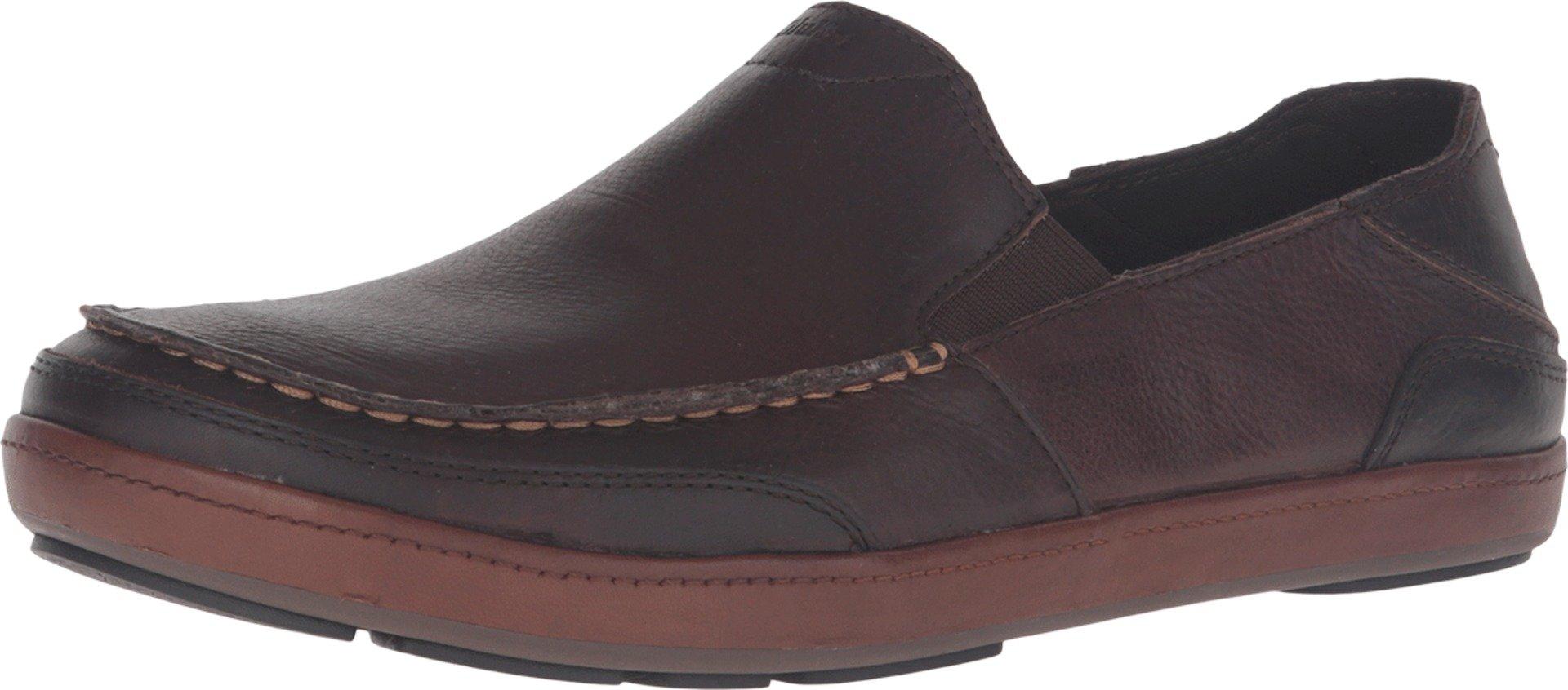 Olukai Puhalu Leather Shoe - Men's Dark Wood / Toffee 11