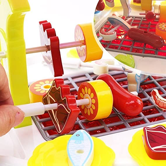 PROACC Juguete de Carrito de Niños, Juguete de casa de Juguete, Juguete de Fantasía Juego de BBQ de Juguete, Juguete de rol de Niños, Juguete de Tienda de ...