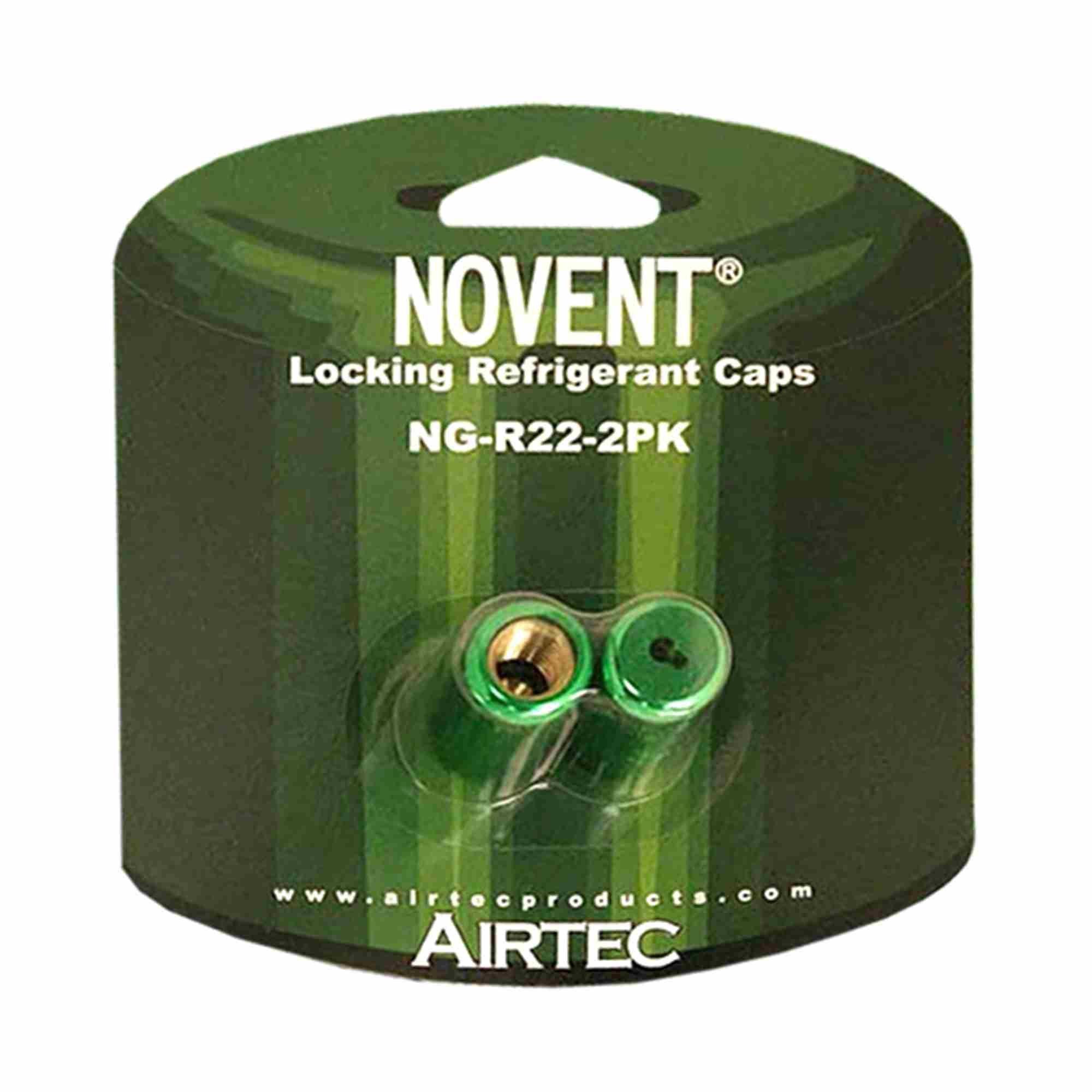 Refrigerant Cap Locks, R22, PK 2 by Novent