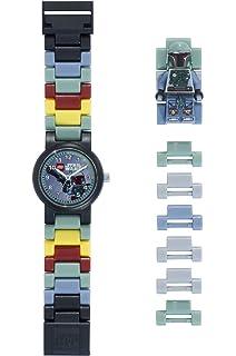 f28102b3f57d Reloj modificable infantil de figurita de Boba Fett de LEGO Star Wars  8020448 verde gris