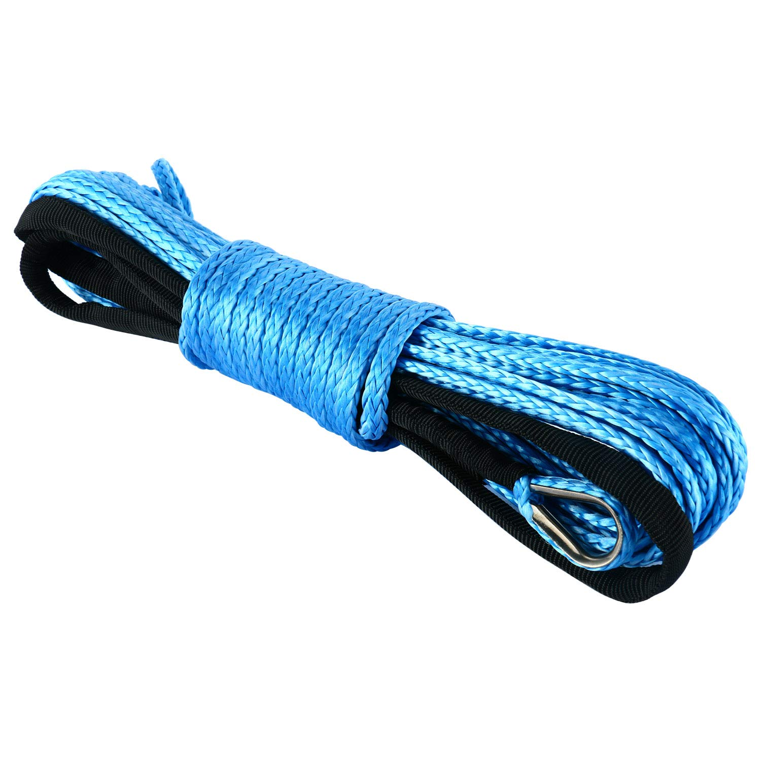 8MILELAKE Synthetic Winch Rope 1/4' x 50' 7700LBs Winch Line Cable Rope with Sheath ATV UTV freebirdtrading