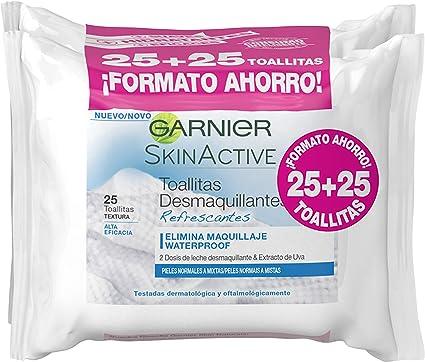 Garnier Skinactive - Toallitas Desmaquillantes Refrescantes, Pack ...