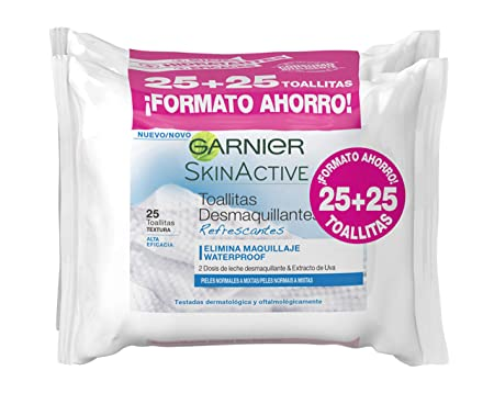 Garnier Skinactive Toallitas Desmaquillantes Refrescantes: Amazon.es: Belleza