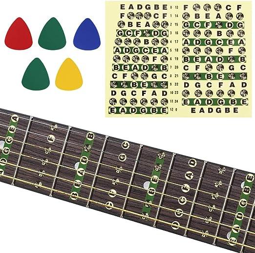 BUZIFU Notas de Guitarra Pegatinas Etiquetas Accesorios de ...