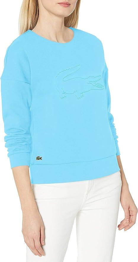 Lacoste Women's Sport Big Croc Crewneck Sweatshirt