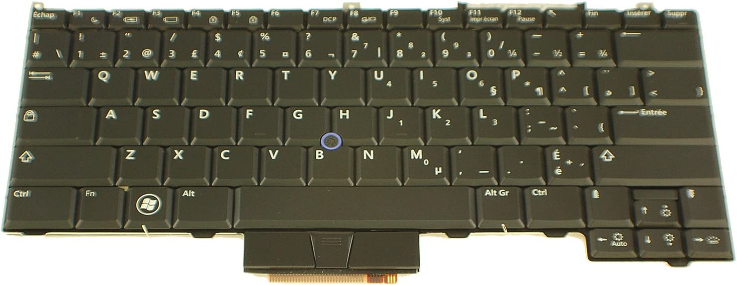 Dell New OEM Latitude E4300 Laptop Keyboard Backlight Clavier DW463 French Canadian Replacement Key Keypad Pad Light Illuminated Backlit