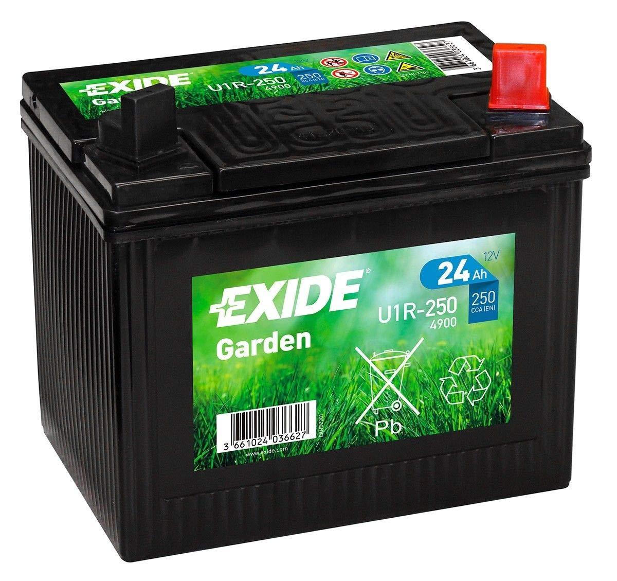 EXIDE U1R-250 (4900) 895 12V 24AH 250A Batería de jardín para ...