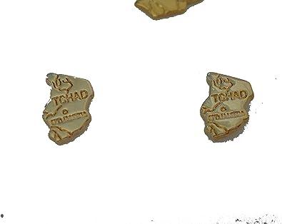 BOUCLES D/'OREILLE TCHAD EN PLAQUE OR