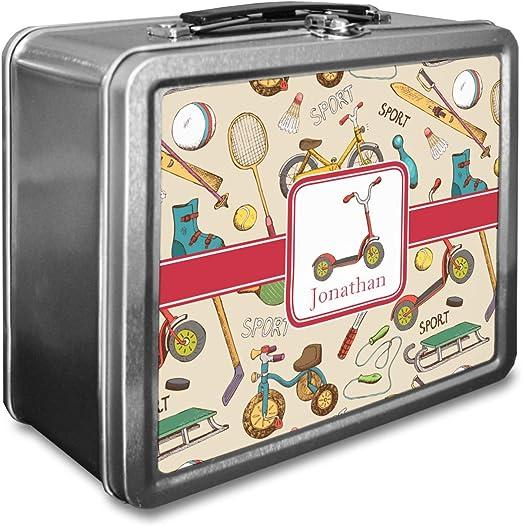 Vintage caja de almuerzo de deportes (personalizado): Amazon.es: Hogar