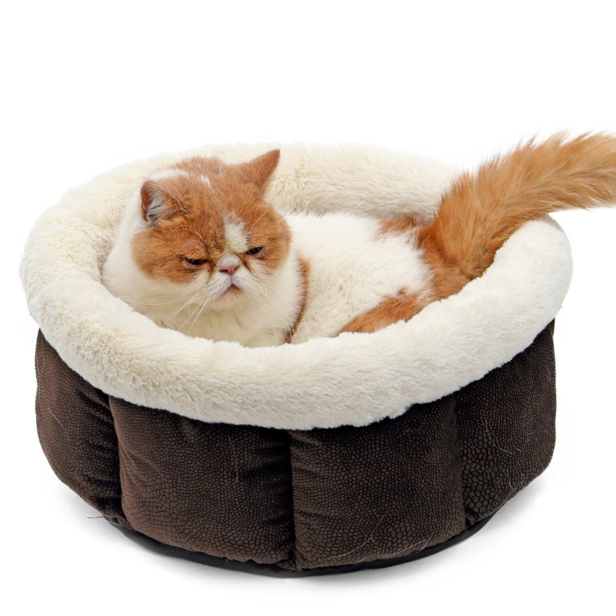 Speedy mascota perro gato cama forro polar suave mascota gato cueva para animales pequeños: Amazon.es: Productos para mascotas