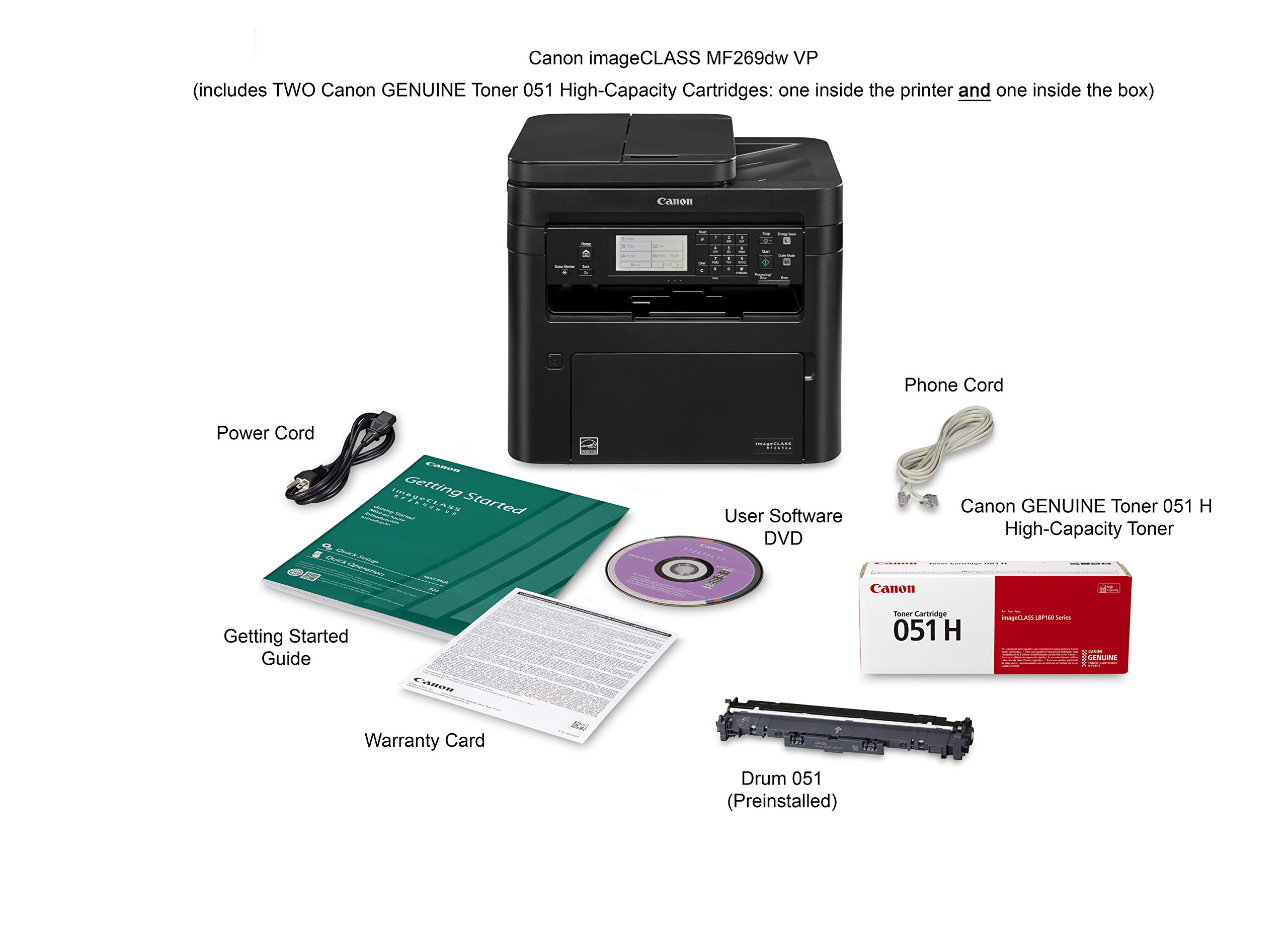 Canon imageCLASS MF269dw VP - All in One, Wireless, Mobile Ready, Duplex Laser Printer (Comes with 2 Year Limited Warranty) by Canon (Image #7)