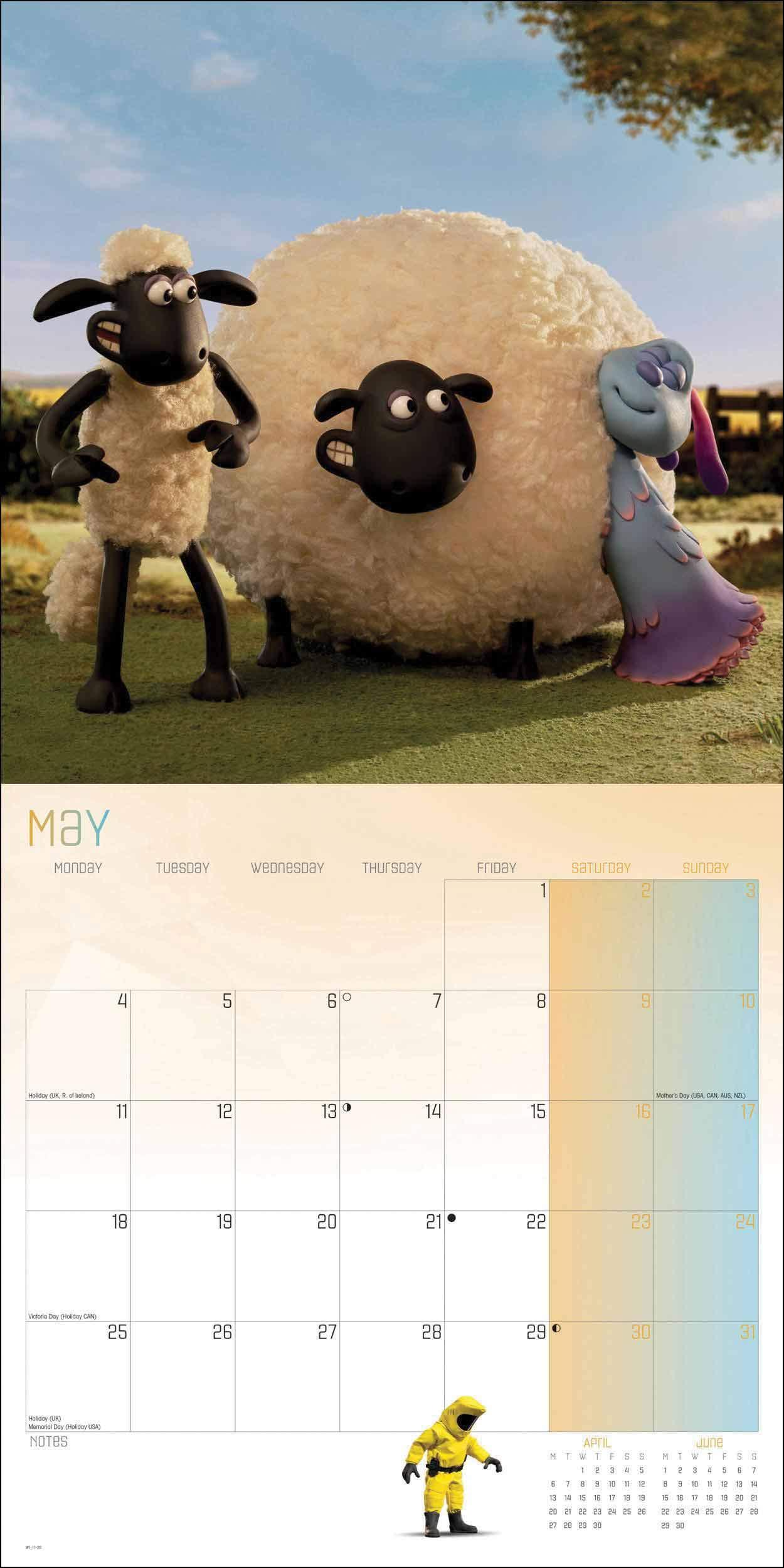 Shaun The Sheep Square Wall Calendar 2020