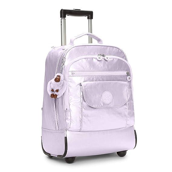 Amazon.com: Kipling Sanaa Metallic Rolling Backpack Frosted Lilac Metallic: Clothing