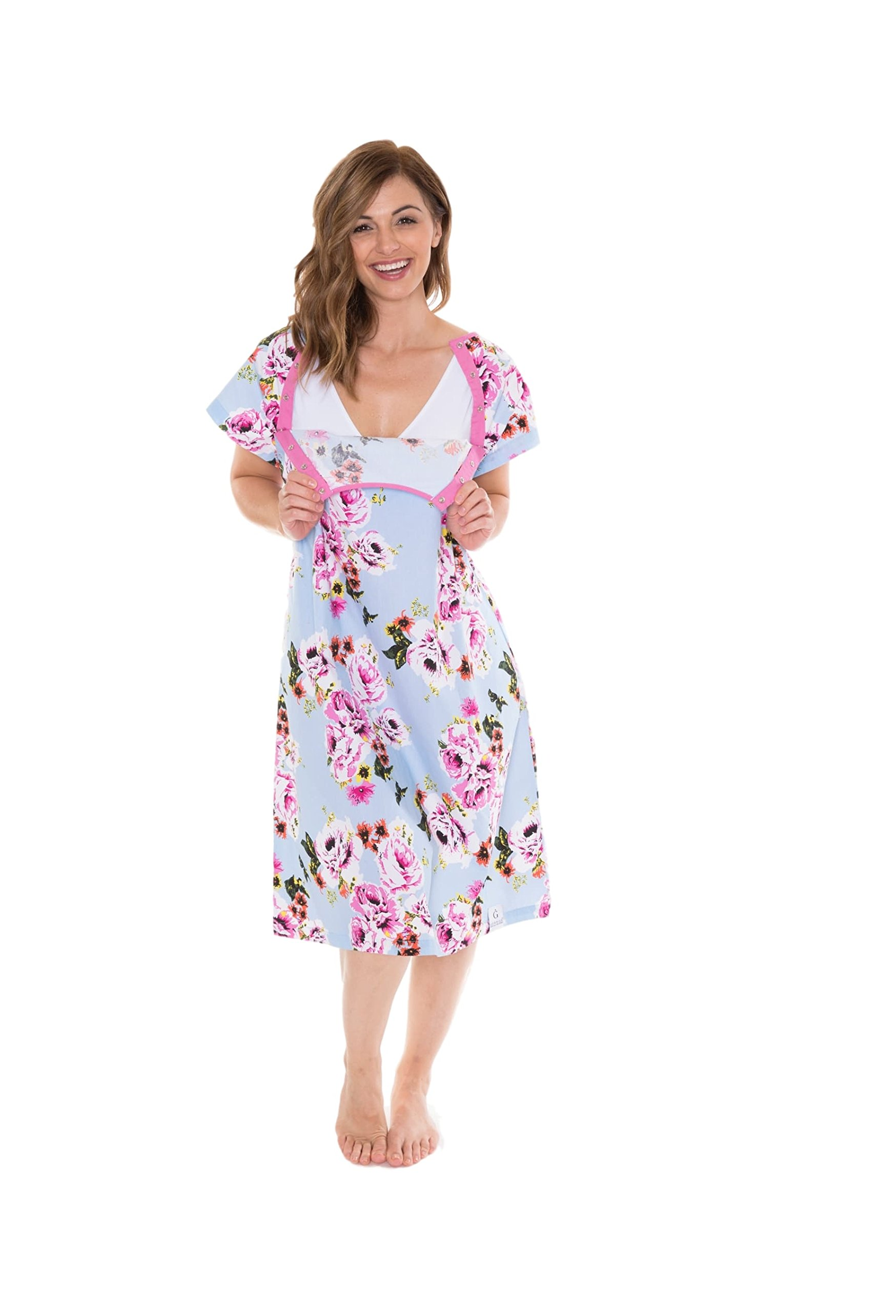 Gownies Labor and delivery Maternity Hospital Gown and Pillowcase ...