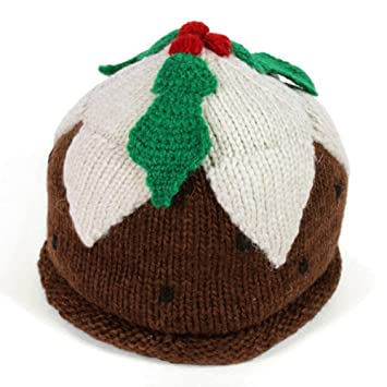 Hand Knitted Christmas Pudding Hat 100 Wool Fair Trade Amazon