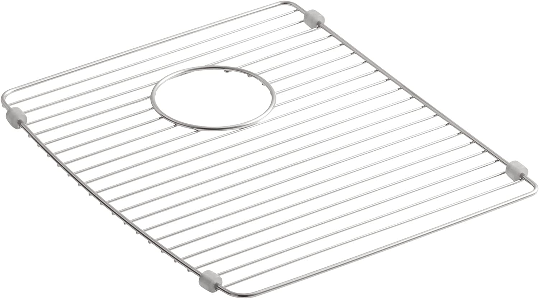"""NEW Kohler 6039-0 Deerfield Stainless Steel Basin Rack White for 14/"""" x 16/"""" Sink"""