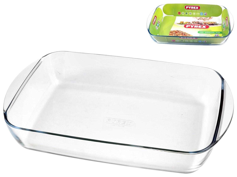 Pyrex - Essentials - Plat Rectangulaire en Verre 40x27 cm  Amazon.fr   Cuisine   Maison 8a62700115bc