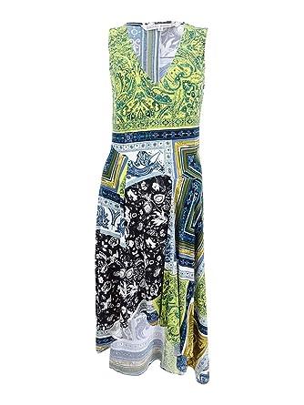 RACHEL Rachel Roy Womens Printed Asymmetrical Midi Dress at Amazon Women s  Clothing store  ab8124eea