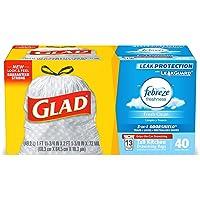 Deals on 40-Count Glad Tall Kitchen Drawstring Trash Bag 13 Gallon