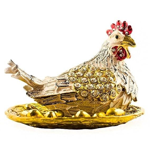 Russian Bronze Solid Brass Figurine Handsome Rooster Chicken IronWork