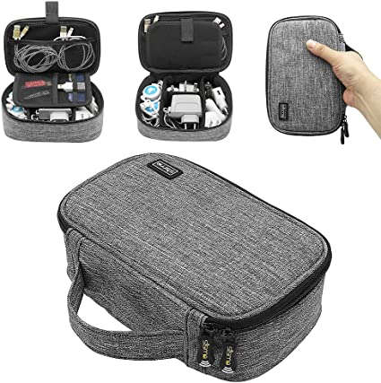 Sisma Travel Small Electronics Case Pouch Bag for Charger Cables Earphone Card