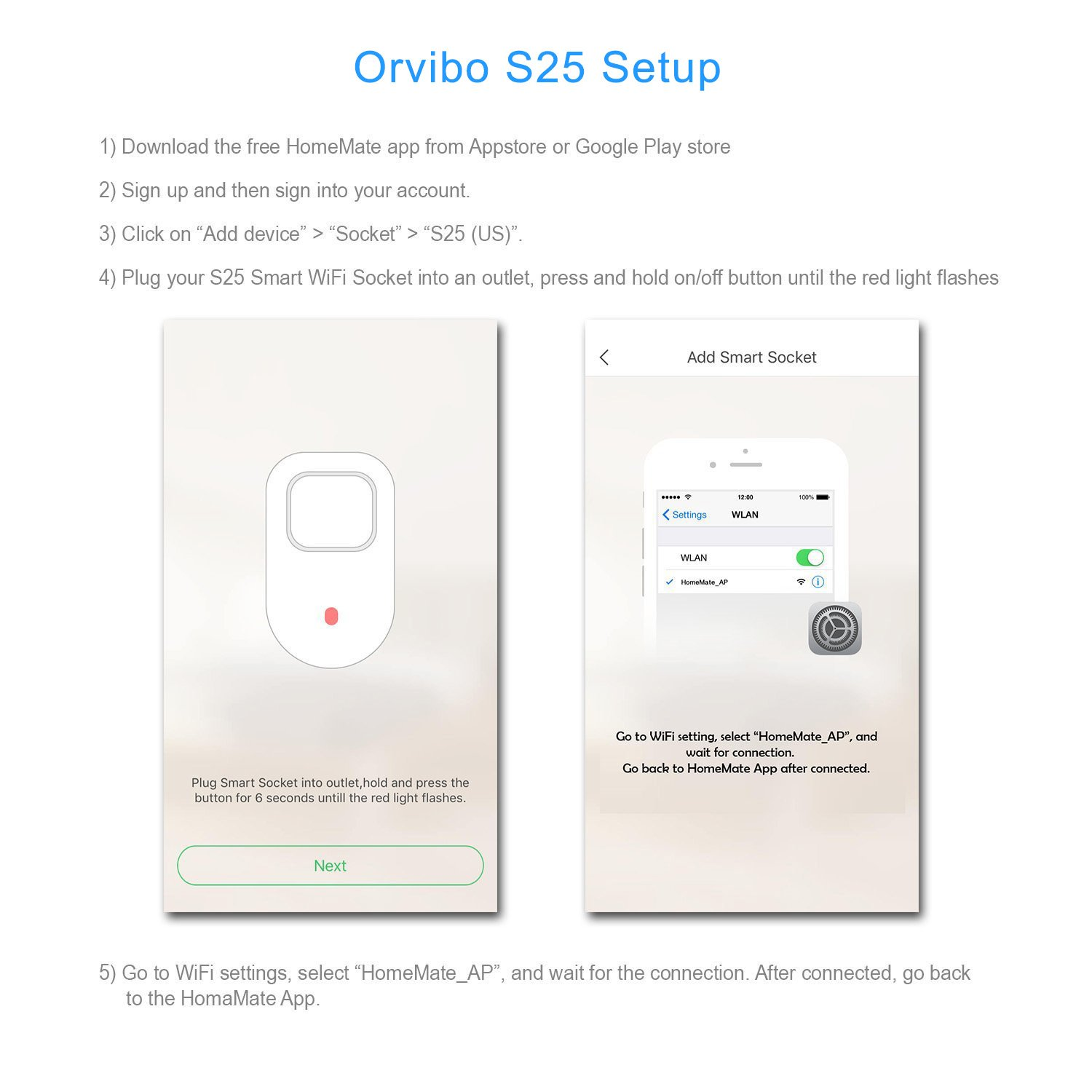 Orvibo Wi-Fi Smart Socket Outlet US Plug, Turn ON/Off Electronics from Anywhere, White (HomeMate-S25) by orvibo (Image #3)