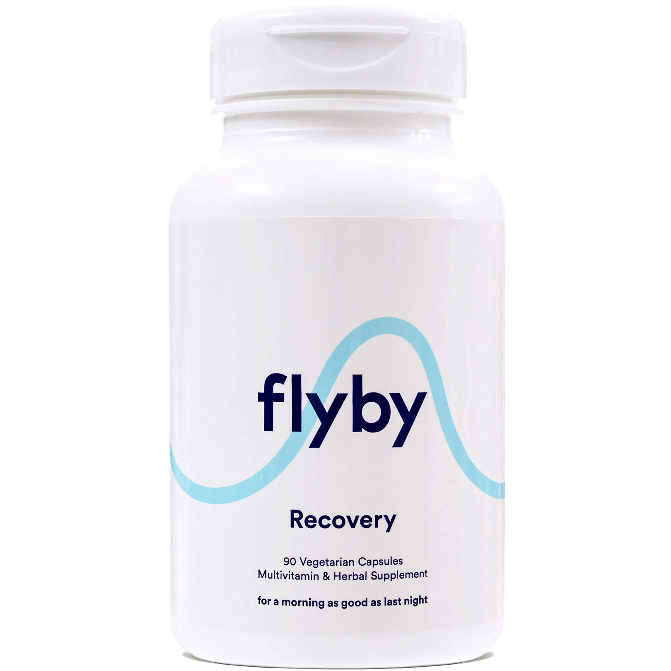 Flyby Hangover Cure & Prevention Pills (90 Capsules) | Dihydromyricetin (DHM), Chlorophyll, Prickly Pear, N-Acetyl-Cysteine, Milk Thistle for Morning After Alcohol Recovery & Aid | Certified Organic by Flyby (Image #1)