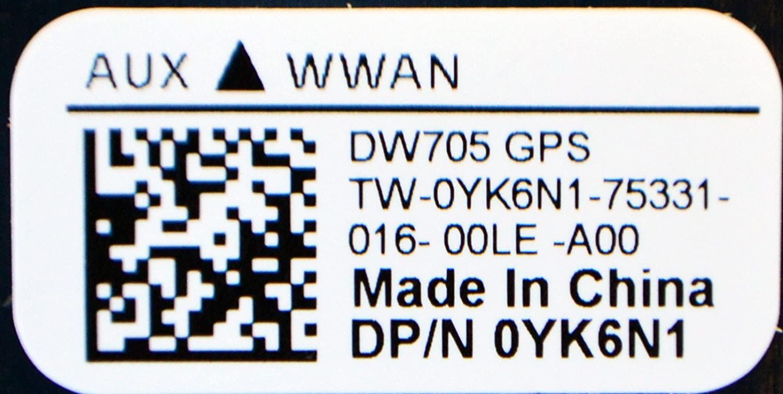 Dell YK6N1 New HP IBM Lenovo Asus Acer Samsung Sony MSI Laptop Notebook Mobile Cellular Broadband Speed Data Access Mini-PCI Express AzureWave Wireless GPS WWAN Card DW705 PK29600120L