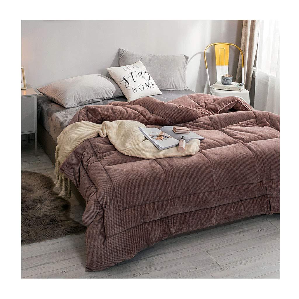 最新入荷 ファッションティーンは暖かい個別の二重の秋と冬のキルトを保つ暖かいソフトコアベッドルームのホステルのベッドのライニングを保つ (色 : Pink, : サイズ 200×230cm(4kg) さいず 220×240cm(4.5kg)) : 220×240cm(4.5kg)) B07M71Q2TS 200×230cm(4kg)|Brown Brown 200×230cm(4kg), ミナミカタマチ:c076ac67 --- itourtk.ru