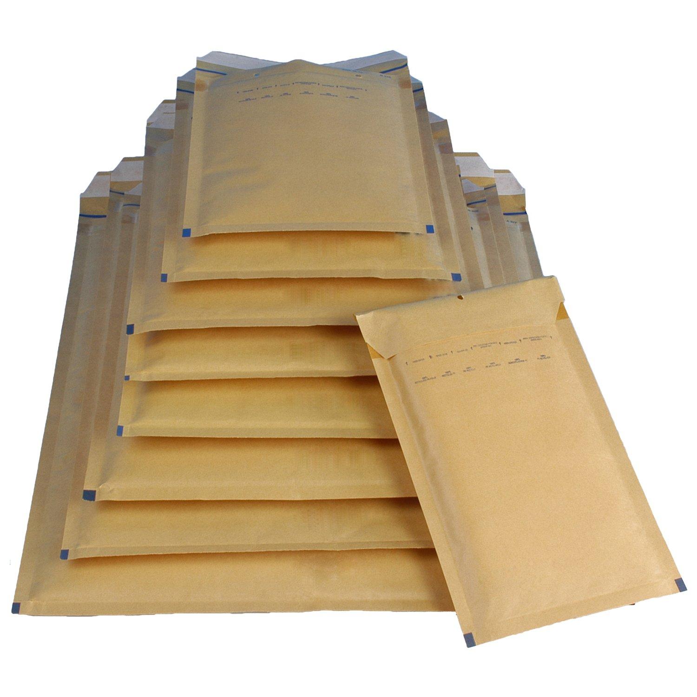 DIN A6 A//1 braun 120 x 175 mm 100 Luftpolsterversandtaschen Luftpolstertaschen Gr
