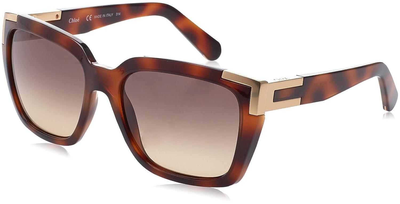 Amazon.com: Chloé Womens CE632S Designer Sunglasses, Havana ...