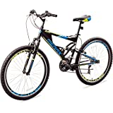 Merax Falcon Full Suspension Mountain Bike Aluminum Frame 21-Speed 26-inch Bicycle