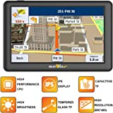 5-inch SAT NAV IPS display and high-brightness (visible in any direction) capacitive touch panel UK and all-Europe maps with built-in 8GB without inserting an SD card