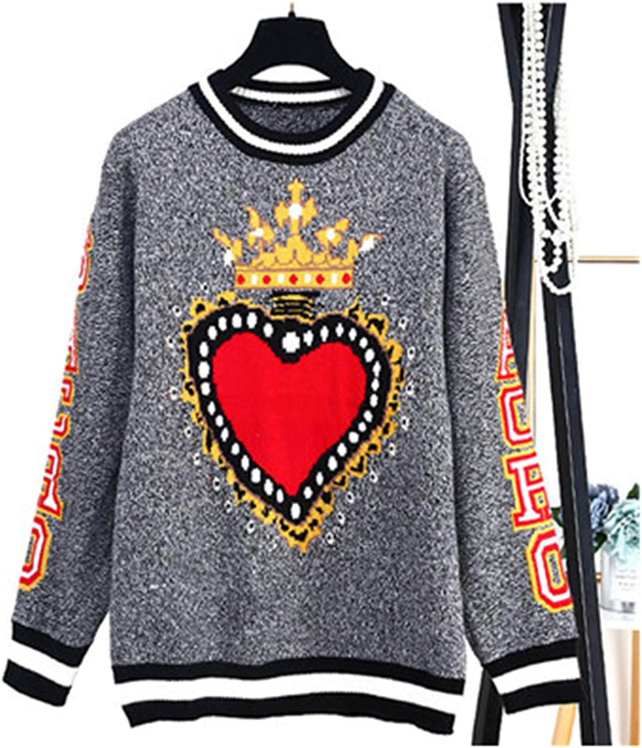 Autumn Winter Thicken Warm Couple Top Knitted Sweaters Women Men Pullovers