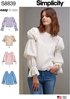product image for Simplicity Easy Women's Flared Sleeve Blouse Sewing Patterns, Sizes 6-14