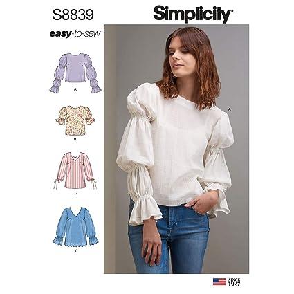d7d01e5ad450 Amazon.com  Simplicity US8839H5 Pattern S8839 Misses  Pullover Tunic ...