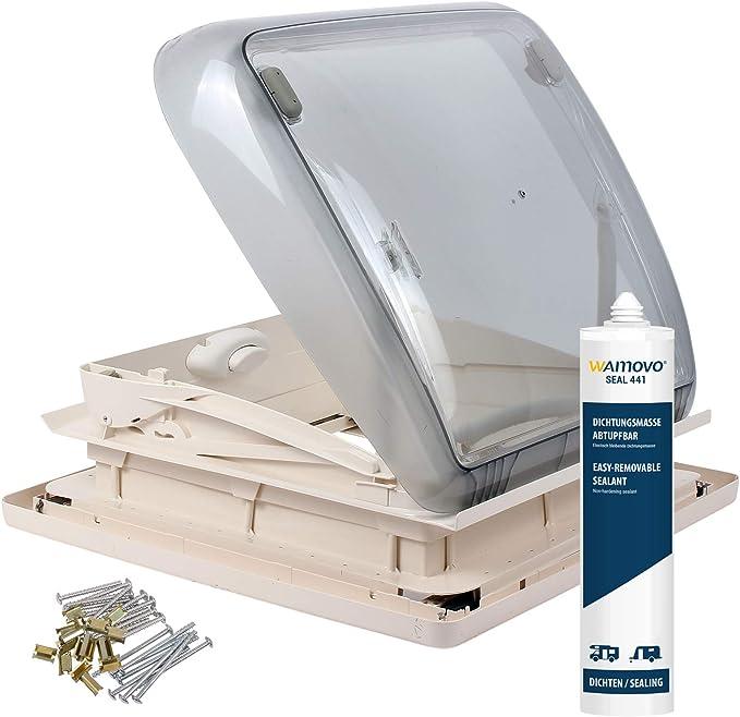 Dometic Mini Heki 40 X 40 Dachstärke 43 60 Mm Zwangsbelüftung Dekalin Dichmittel Für Wohnwagen Oder Wohnmobil Auto