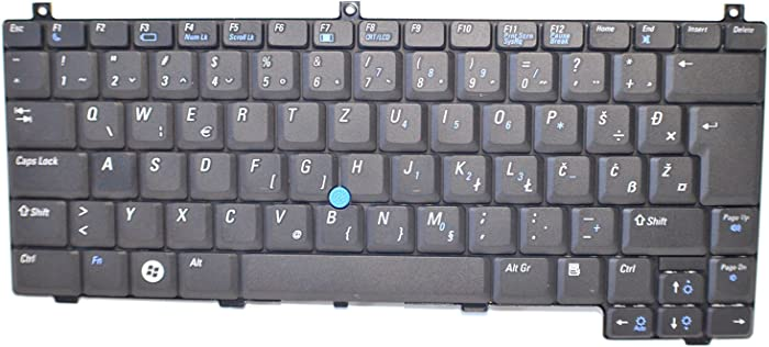 NEW MH147 Genuine OEM Dell Latitude D420 D430 Laptop Slovenian 85-Key QWERTZ Keyboard Tipkovnico Mouse Pointer Stick Dual-Pointing Non-Backlit Brez Svetlobe NSK-D701F Izvedba 9J.N8582.01F SLVN MH147