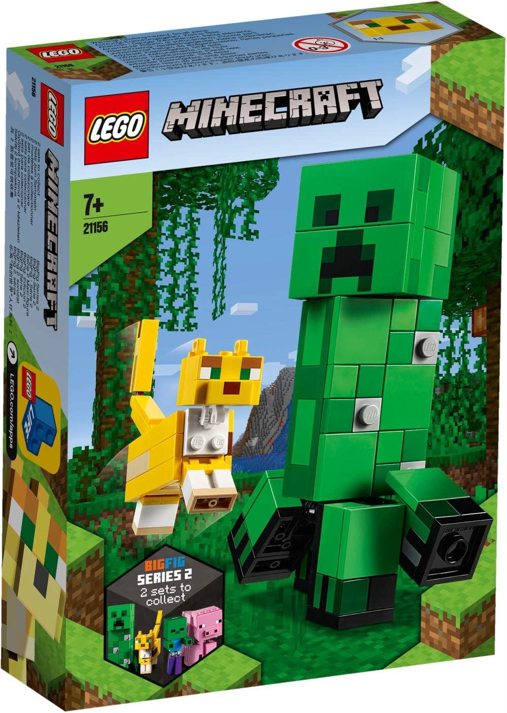 レゴ(LEGO) マインクラフト マインクラフト ビッグフィグ クリーパー(TM) とヤマネコ 21156