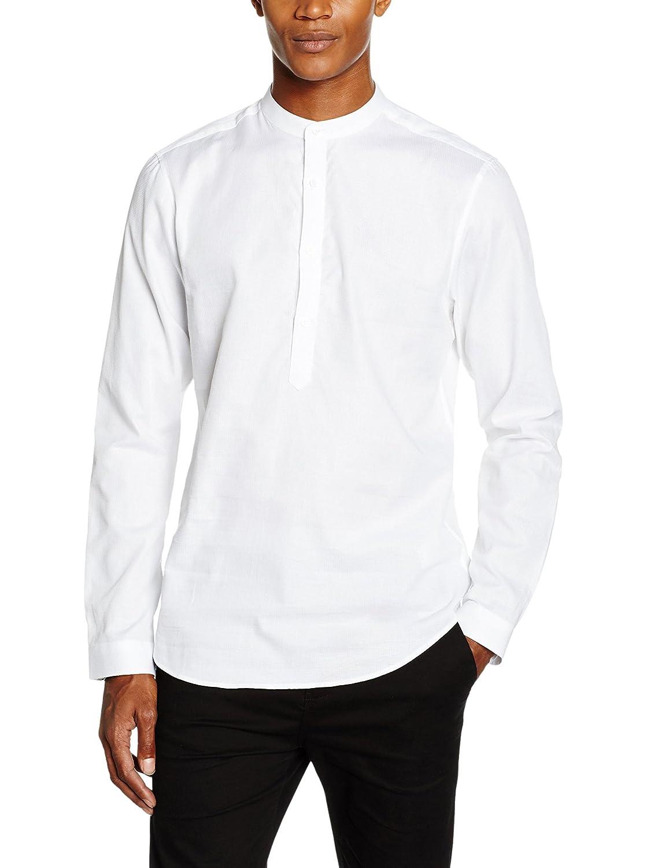 TALLA S. New Look Textured Grandad - Camisa Hombre