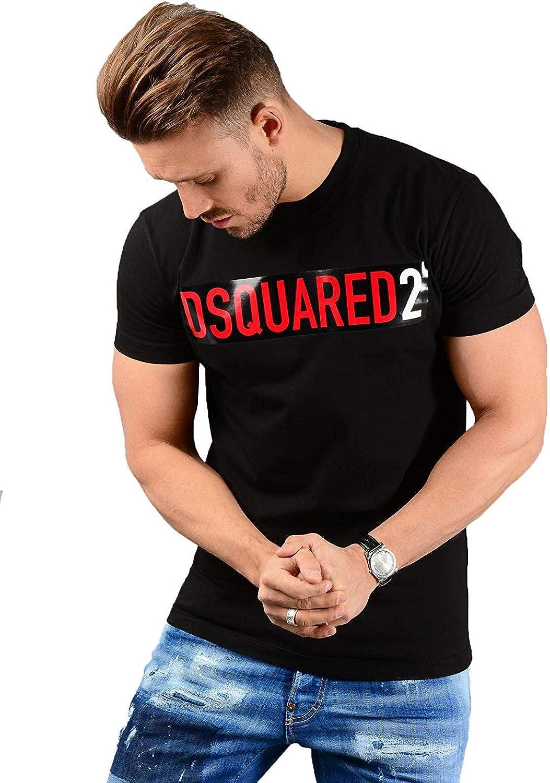 DSQUARED2 Hombre S74GD0479 Camiseta Negro: Amazon.es: Ropa y accesorios