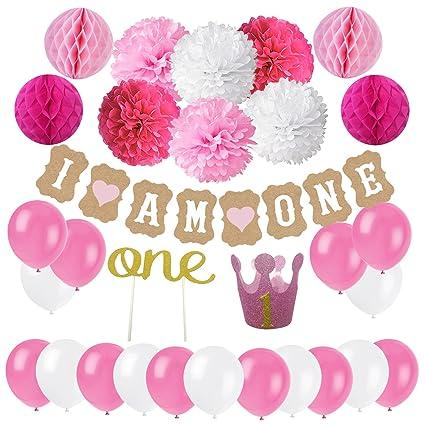Amazon Com First Birthday Decoration Set For Girl Cocodeko 1st