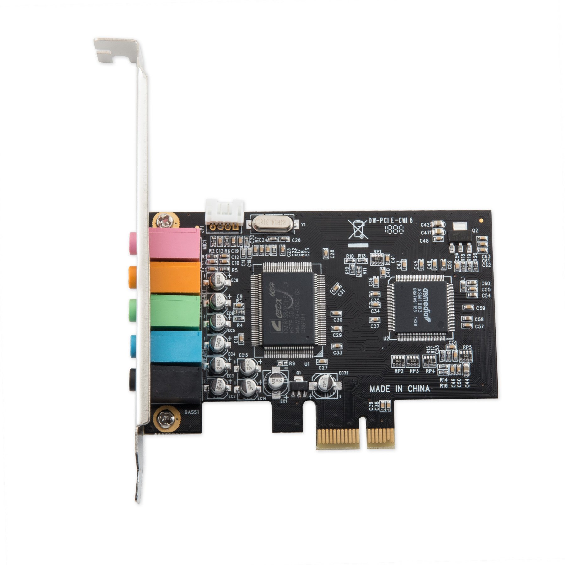 Syba IO Crest 5.1 Channel PCIe X1 Sound Card Sound Cards SI-PEX63096 by Syba (Image #2)