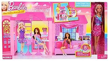 barbie casa con mueca y accesorios mattel y