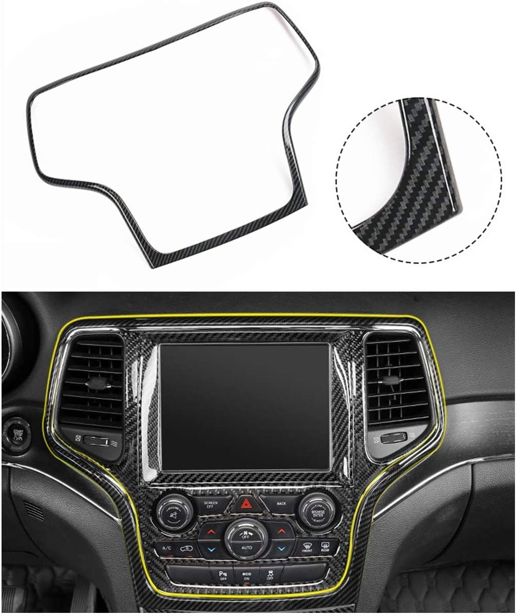 NO7RUBAN Dashboard GPS Navigation Carbon Fiber Sticker /& Carbon Fiber Style Cover Trim for 2014-2019 Jeep Grand Cherokee Dashboard Cover Trim