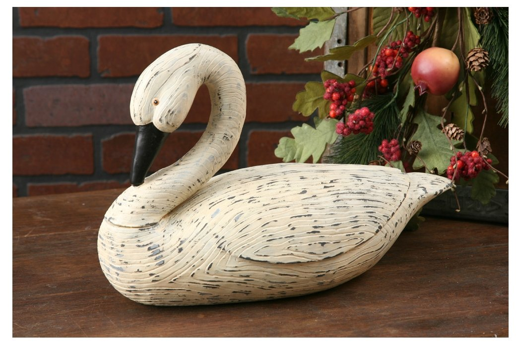 Your Heart s Delight 15 by 9-1 2-Inch Bent Neck Feathered Goose, Large