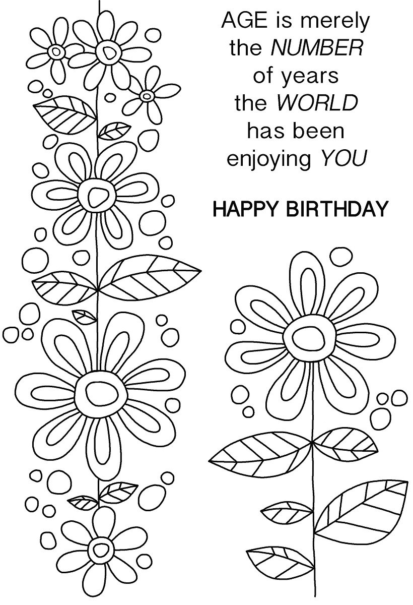Woodware A6 Clear Cling Stamps - JGS567 Daisy Chain by WoodWare