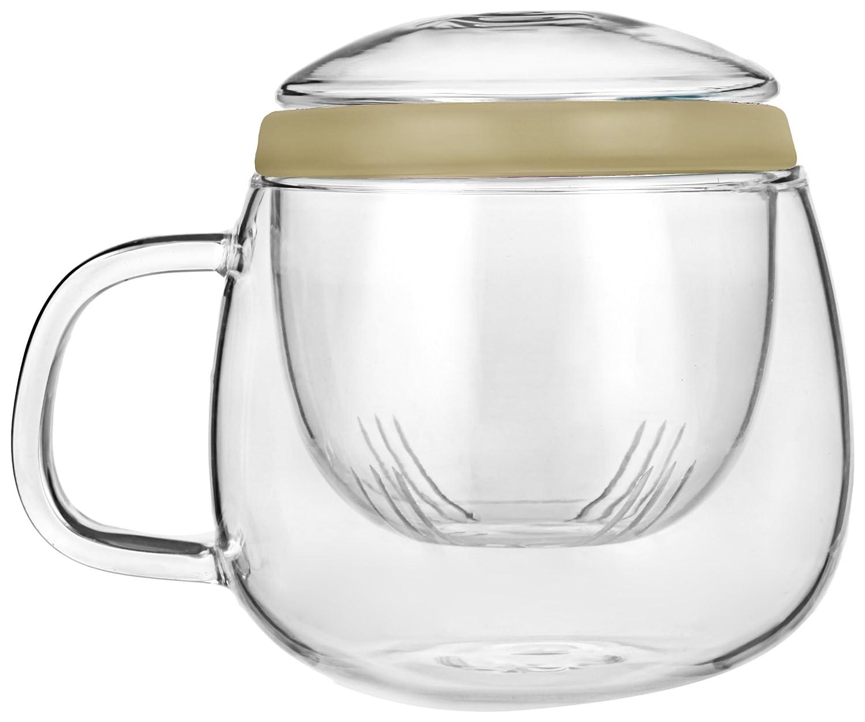 Tea Soul B6021831 Tasse avec Infuser Verre Orange 500 ml